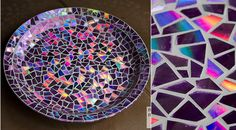 Mosaico com CD - aprenda a fazer!