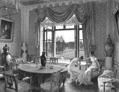 Оформление окон в барских домах первой половины XIX в. - Государственный Лермонтовский музей-заповедник «Тарханы»