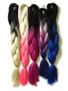 Synthetic hair from ikickshins- ombre