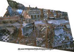 Eine weitere Platte aus dem Jahre 2006 für Warhammer 40K. Die Platte war eine Auftragsarbeit in der ich Gebäude aus dem Handel ( Forgewor...