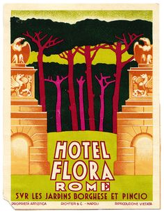 ITALY ROME / Roma - Hotel Flora | by Luggage Labels by b-effe