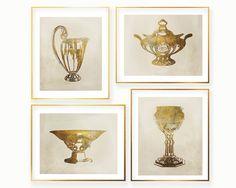 4 Vase Digital Prints Set  Antique Vase Wall Art  by RaenPrinting