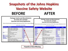 FDA Approved Vaccine with Autism and SIDS Listed as Adverse Events, Vaccine Safety Website Removes Information