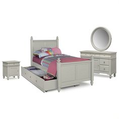 Charmant Kids Furniture   Seaside Gray 7 Pc. Twin Bedroom With Trundle