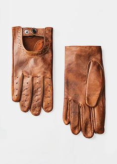 leather gloves for men / he by mango
