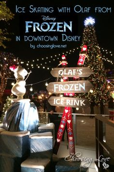 Olaf's Frozen Ice Rink brings magic to Downtown Disney....UMMMMM I WANT TO GO!!!!!!!!!