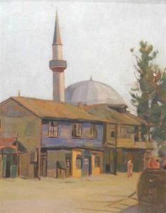 Landscape with Mosque - Constantin Artachino
