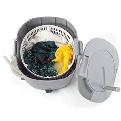 Yup... Doing laundry when you are camping. Throw it in here, three gallons of water, spin the crap out of it and you are all clean! All with to electricity! #Camping #Outdoors #Laundry