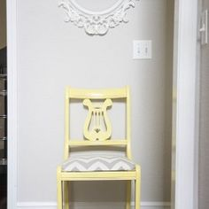 yellow chair makeover...how to make chalk paint
