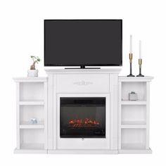 500.00 Master Bedroom? Elegant White Ivory W Electric Fireplace