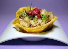 Cucinare che Passione: Risotto al radicchio in cialda di grana