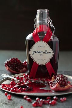 Homemade Grenadine Syrup: super easy, and doesn't have any corn syrup or food coloring like the store bought stuff, via Will Cook For Friends