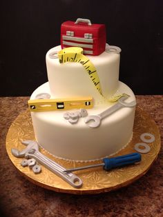 New Birthday Cake For Boyfriend Car Ideas Birthday Cakes For Men, Birthday Cake For Boyfriend, Funny Birthday Cakes, 70th Birthday Cake, Chevrolet Corvette, Corvette Cake, Funny Grooms Cake, Mechanic Cake, Funny Wedding Cake Toppers