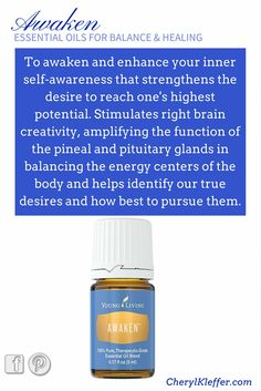 Awaken Essential Oil enhances your inner self-awareness.  Learn more. Subscribe to my blog @ CherylKleffer.com/Blog #CrazySexySkin