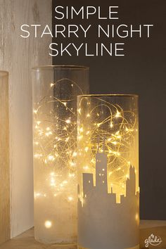 Light up any nook with a DIY cityscape that's sure to spread joy in your home. With a few materials, our downloadable skyline, a little time, and a lot of holiday spirit, convert a mason jar (or two) into your own lit-up little city! Spread more joy with other crafts to share with friends and family.