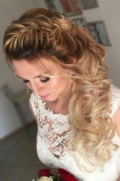 Beautiful braid wedding hairstyle idea - wedding hair ,hairstyle ,updo ,messy updo ,hair updo ideas ,hair ideas ,bridal hair ,french chignon ,messy updo hair ,wedding hairstyles ,hairstyles ,hairs ideas