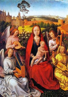 Hans Memling: Virgin and Child with Musician Angels