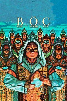 Blue Öyster Cult # Hard/Prog/Heavy Rock Posters, Band Posters, Concert Posters, Blue Oyster Cult, Johnny Depp Wallpaper, Rock Album Covers, Band Wallpapers, Heavy Rock, Metal Albums