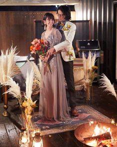 グランピングフォトウェディング&藤乃スイートステイプランの撮影イメージ Glamping, Wedding, Valentines Day Weddings, Go Glamping, Weddings, Marriage, Chartreuse Wedding