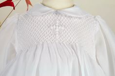 Pretty Originals Style BD1028 Smocked Christening Gown with Embroidered Cross | Posh Tots Online