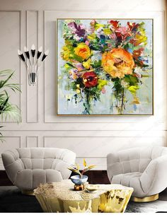Oil Painting Flowers, Oil Painting Abstract, Painting Art, Fantasy Paintings, Impressionist Paintings, Big Canvas Art, Flower Artists, Sky Art, Living Room Art