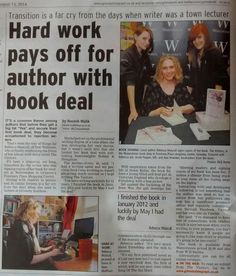 Grimsby Telegraph feature on Waterstones signing.