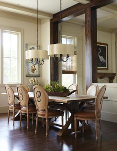 Delightful dining - fabulous light fixture traditional home.