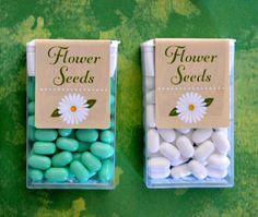 Spring / flowers Tic Tac labels