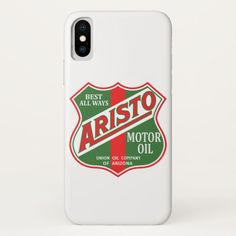 Aristo Motor Oil vintage sign. iPhone X Case Custom Brandable Electronics Gifts for your buniness #electronics #logo #brand
