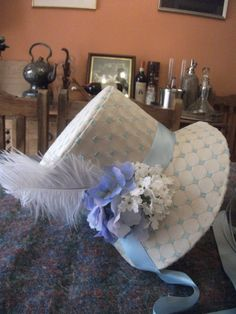 Regency Bonnet Jane Austen 1800s Reenactment