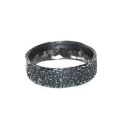 Cuttlefish ring - oxidised silver