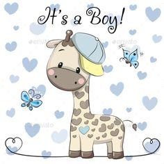 Buy Baby Shower Greeting Card with Giraffe Boy by on GraphicRiver. Baby Shower Greeting Card with cute Cartoon Giraffe boy Baby Shower Greetings, Baby Shower Greeting Cards, Baby Shower Giraffe, Cute Giraffe, Cartoon Giraffe, Cute Cartoon, Dibujos Baby Shower, Baby Boy Cards, Baby Boy Announcement