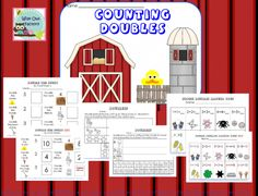 Free doubles facts work pages for K-1 using the story book DOUBLE THE DUCKS