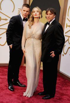 Richard Linklater Ethan Hawke Julie Delpy/「ビフォア・ミッドナイト」の3人が勢ぞろい!! リチャード・リンクレイター監督×ジュリー・デルピー×イーサン・ホーク #Oscars #RedCarpet!