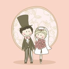 Image detail for -Cartoonstyle wedding elements 04vector material2 Cartoon style wedding ...