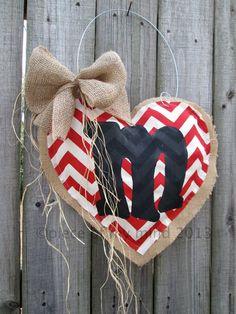 Valentine Day Burlap Door Hanger