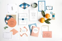 bright and simple wedding invitation suite by hello tenfold. photography by lissa gotwals, styled by michelle smith.
