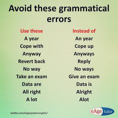 Use these words and avoid grammar mistakes. English Grammar Rules, Learn English Grammar, English Idioms, English Vocabulary Words, Grammar Lessons, English Language Learning, English Phrases, Learn English Words, English Writing
