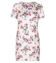 Pink Floral Print Pocket Tunic Dress