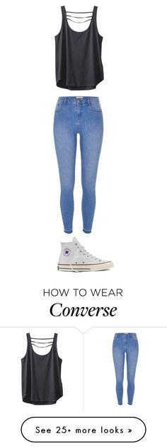 """Untitled #90"" by bella1235 on Polyvore featuring Kavu, River Island and Converse"