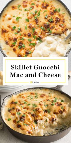 Recipe: Skillet Gnocchi Mac and Cheese - Gnocchi Mac and Cheese Skillet Recipe Cheese Recipes, Pasta Recipes, New Recipes, Vegetarian Recipes, Cooking Recipes, Favorite Recipes, Recipes With Gnocchi, Easy Gnocchi Recipe, Vegetarian Dinners
