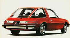 AMC Pacer. The idea was a compact car without compromise. Small on the outside, big (roomy) on the inside.