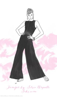 You can get this jumper at Saks. (Sketch of the jumper designed by Silvia Arguello.) #FashionStar #ChrisOlsonIllustration #saks