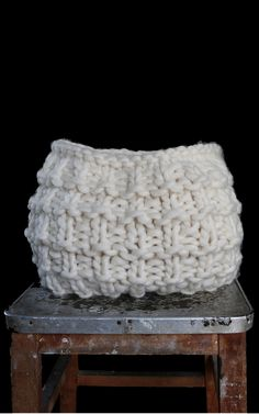 Hand Knitted Wool Basket | DIY Knitting Kit - Christopher Basket by We Are Knitters x Morgane Mathieu