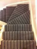 striped stair carpet - Google Search Stair Carpet, Landing, Google Search, Wood, Woodwind Instrument, Timber Wood, Trees