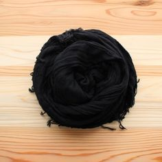 basic shawl 27 BIG cotton100% #black