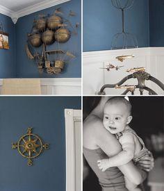 Vintage Nautical Nursery « Spearmint Baby (good link for ideas) Punk Nursery, Nautical Nursery, Nursery Room Decor, Boy Room, Kids Room, Spearmint Baby, Vintage Nautical, Infant Activities, Baby Boy Nurseries