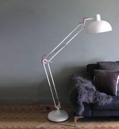 matt white angled floor lamp by the forest & co | notonthehighstreet.com myös eri väreissä