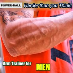This is the Powerball Wrist & Arm Trainer! It's a baseball-sized handheld device that can be used in a fitness, sports, rehabilitation or fun manner making it fun, pleasurable and very addictive. With its gentle yet dynamic, non-impact nature and compact Fitness Tracker, Training Fitness, Fitness Motivation, Fitness Goals, Health Fitness, Fitness Quotes, Motivation Quotes, Fitness Diet, Forearm Muscles