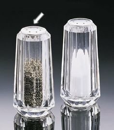 Acrylic Small Faceted Salt And Pepper Shakers by US Acrylic. $9.93. Made of acrylic. Small Size. Small Salt & Pepper Shakers it's made by acrylic. Save 28%!